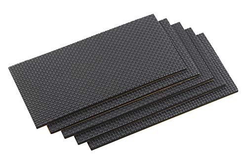 Metafranc Möbel-Pads 100 x 200 mm - selbstklebend - schwarz - 5 Stück - Stoßdämpfend & Geräuschreduzierend / Möbeluntersetzer für empfindliche Böden / Bodenschonende EVA-Pads / Schutzpuffer / 645726