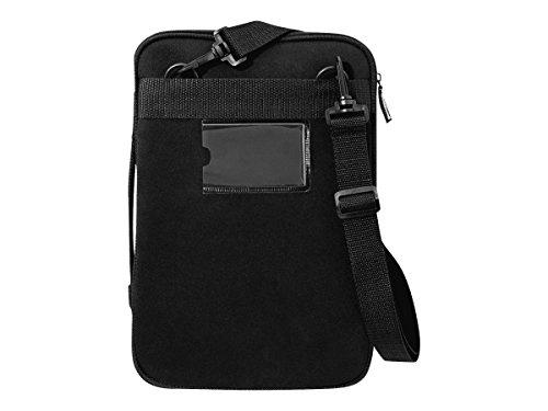 V7 CSE12HS-BLK-9E 12 Zoll Notebook-Schutzhülle mit Schulterriemen für Macbook oder Chromebook, Schwarz