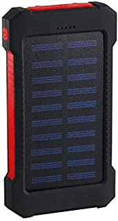 Kraftbank Power Bank Vattentät 30000mAh laddare 2 USB-portar Extern laddare (Color : Red)