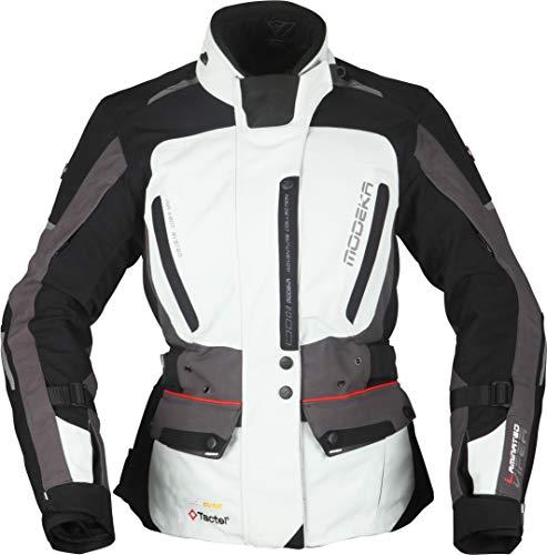 Modeka Viper LT Damen Motorrad Textiljacke Hellgrau/Dunkelgrau/Schwarz 40