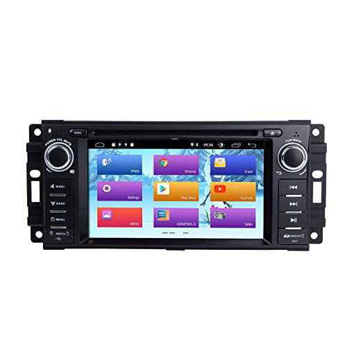 ZLTOOPAI Auto Multimedia Player für Dodge Ram Challenger Jeep Wrangler Chrysler Android 10 Octa Core 4G RAM 64G ROM Single DIN Autoradio Audio Stereo GPS Navigation