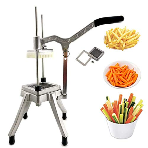 """Commercial Vegetable Dicer Stainless Steel Easy Chopper Dicer with 3/8"""" Blade Vegetable Fruit Cutting Machine Kitchen Tools Food Processors for Onion Tomato Peppers Potatoes (Upgrade3/8Inch)"""
