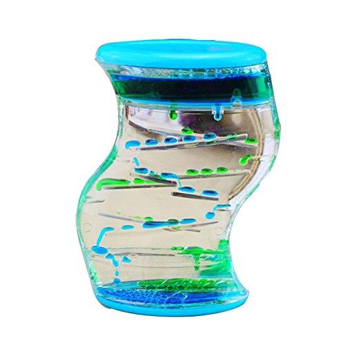 ForceSthrength Wasser Motion Liquid Bubble Timer, Sensorisches Zappelspielzeug, Mehrfarbiges Schreibtischspielzeug Blau-Grün