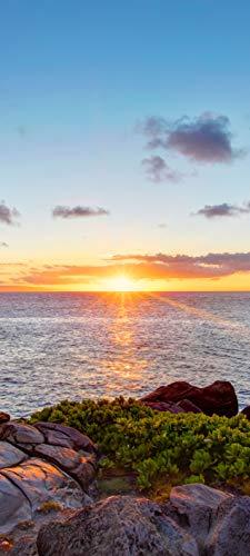 Bilderdepot24 Türtapete selbstklebend | Küstenlinie von Maui | in 90x200 cm | einteilig Türaufkleber Türfolie Türposter | Wand-deko Dekoration Wohnung | 11472a