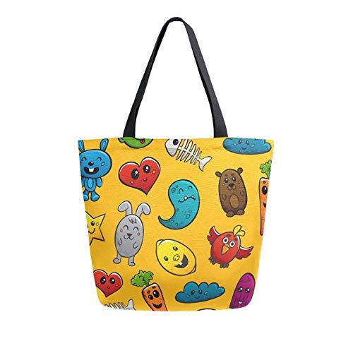 Graffiti-Figuren-Ornament, Leinen-Tragetasche, Einkaufstasche, waschbar, wiederverwendbar, für Lebensmittel, Einkaufen, Reisen, Picknick, Schule
