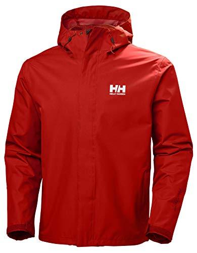 Helly Hansen Seven J Chaqueta impermeable con forro de secado rápido, cortaviento y transpirable para hombre y para uso diario