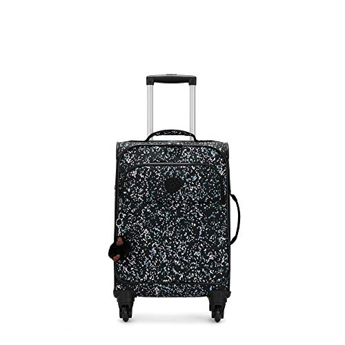 Kipling Parker Small Printed Rolling Luggage Sprinkled Dots Black