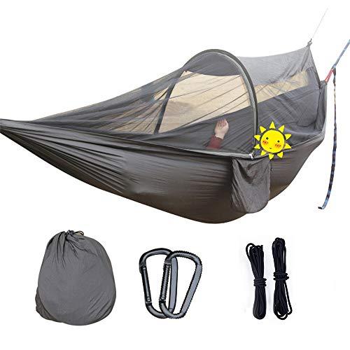 Hangmat camping reis buiten hangmat parachutestof anti-muggenbescherming automatische rod perfect voor tuin outdoor camping