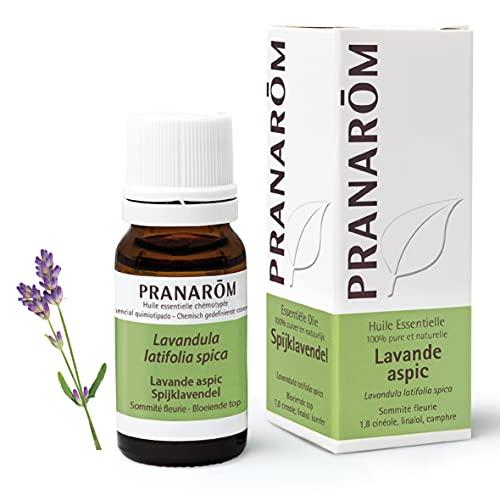 Pranarôm | Huile Essentielle Lavande Aspic | Lavandula latifolia spica | Sommité Fleurie | HECT | 10 ml