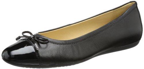 Geox Damen D LOLA A Geschlossene Ballerinas, Schwarz (BLACKC9999), 36.5 EU