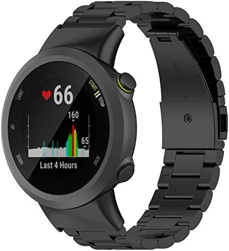 Shieranlee Correas de Metal compatibles con Garmin Forerunner 45S Correa,Strap de Repuesto de Acero Inoxidable para Forerunner 45S Smartwatch