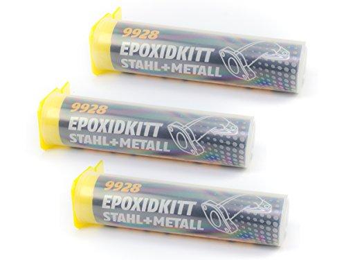 3 X Kaltmetall Knetmasse Metallkleber Mannol Epoxidkit