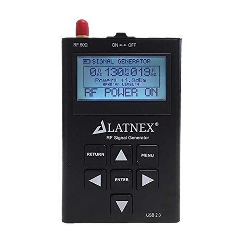 RF Signal Generator. Handheld HF Frequency CW and Sweep Generator