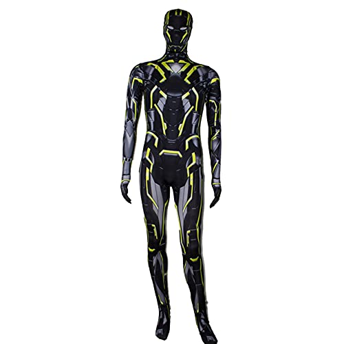GJZhuan Bambini Iron Man Tuta Costume Cosplay PS4 Film Costumi di Halloween Supereroe Giochi Ruolo Onesies Lycra Zentai Party Fancy Dress Suit,Black-Kids M 105~115cm