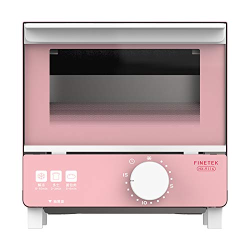 Exquisito Horno doméstico pequeño, tostadora automática, Mini Horno Multifuncional, Control Inteligente de Temperatura, calefacción de circulación, Temporizador, 5L, 550W (Rosa/Azul)