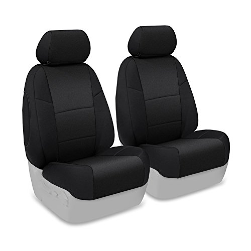 Coverking Custom Fit Front 50/50 Bucket Seat Cover for Select Toyota 4Runner Models - Neosupreme Solid (Black)