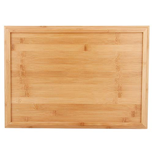 Bandeja de servicio de bambú Bandejas rectangulares para aperitivos Bandeja de madera para alimentos Desayuno Otomana Mesa de centro(S)