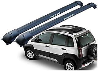 Rack de Teto Travessa Fiat Idea Adventure Locker 2006 a 2016 Preta Projecar Carga 45Kg