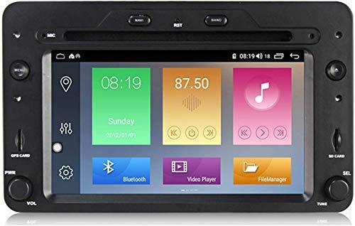 LINGJIE GPS Navegación para Alfa Romeo 159 Brera 7'Reproductor Multimedia Video Receptor Carpray DSP RDS SWC MirrorLink Car Radio Sat Nav 2DIN Radio Unidad,4core 1+16g