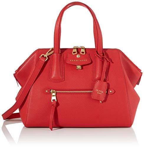Guess - Olivia, Bolso de mano Mujer, Rojo (Red), 17x25x34 cm (W x H L)