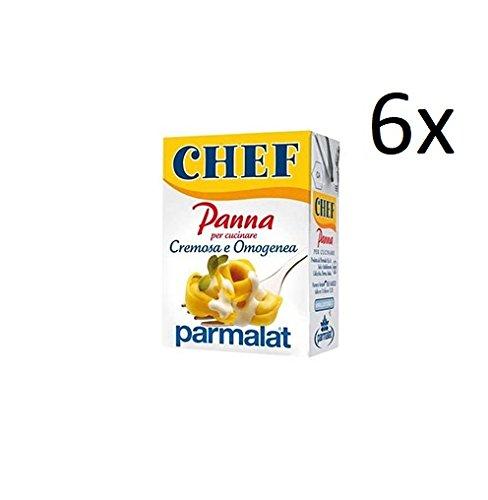 6x Parmalat Panna chef Sahne per cucinare Kochcreme creme fur Koch 200ml
