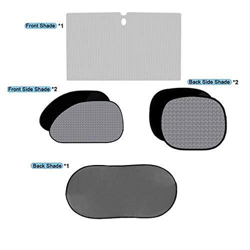Auto-zonwering voor kinderen, opvouwbaar, voor voorruit, draagbaar, met UV-bescherming, beschermt tegen elektrostatische verstopping.