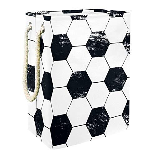 Caja de almacenaje Balón de fútbol Abstracto geométrico Cesta de Almacenamiento Plegable...