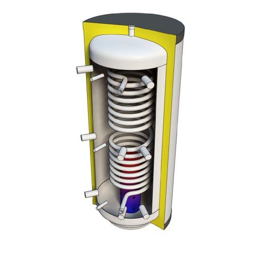 Hygienespeicher 1000 Liter mit Edelstahlwellrohrregister