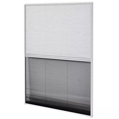 vidaXL 142615 Insektenschutz Alurahmen Jalousie Dachfenster Plissee Fliegengitter, Weiß
