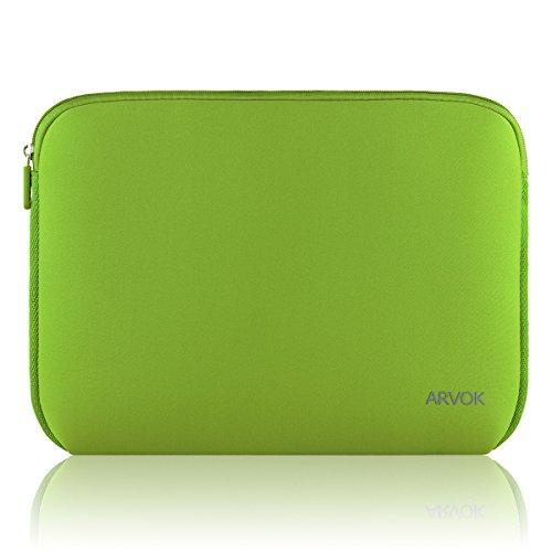 Arvok 13 13,3 14 Zoll Laptoptasche Schutzhülle Wasserdicht Neoprene, Laptop Sleeve Hülle Laptophülle Notebook Hülle Tasche für Acer/Asus/Dell/Fujitsu/Lenovo/HP/Samsung/Sony, Bambus Grün