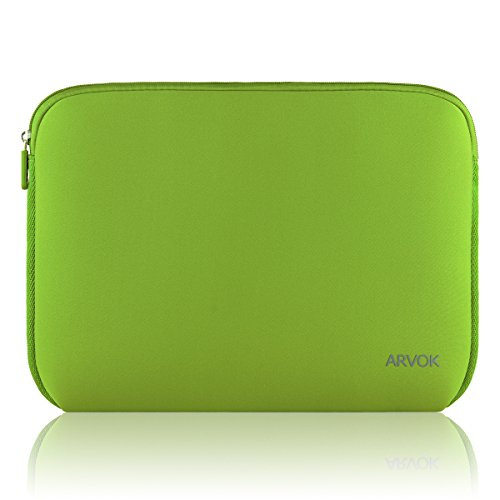 Arvok 13-14 Inch Laptop Sleeve Multi-color & Size Choices Case/Water-resistant Neoprene Notebook Computer Pocket Tablet Briefcase Carrying Bag/Pouch Skin Cover For Acer/Asus/Dell/Lenovo, Bamboo Green