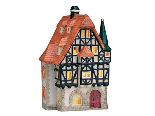 meindekoartikel Apotheke in Rothenburg o.d. Tauber aus Porzellan – Windlicht Lichthaus Miniatur-Modell – B10 x H19 x T10 cm