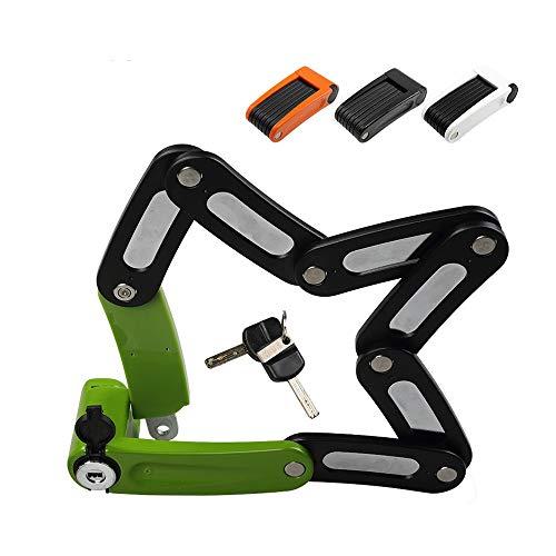 Bloqueo de la bicicleta plegable portátil Mini candado de bicicleta profesional Antirrobo...