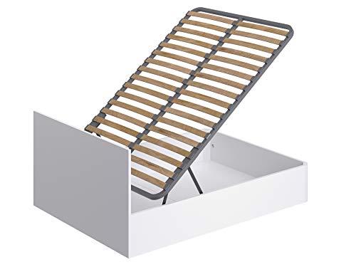 Movian Idro modernes Doppelbettgestell aufklappbar, 190 x 140 x 80, Weiß