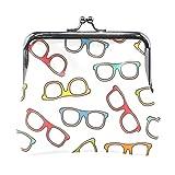 Monedero de viaje Gafas de diseño popular Accesorios para hombre Cambio monedero con cierre de beso bolsa para monedas para hombres y mujeres niñas 4.5 x 4.1 pulgadas