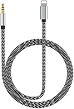 (Apple MFi Certified) Lightning to 3.5mm Car Aux Cord for iPhone,Nylon Braided Aux Audio Cord Car Stereo Cable&Headphone Jack Adapter Compatible with iPhone 11/XR/XS/X/8/8P/7/7P Support iOS 12(3.3ft)