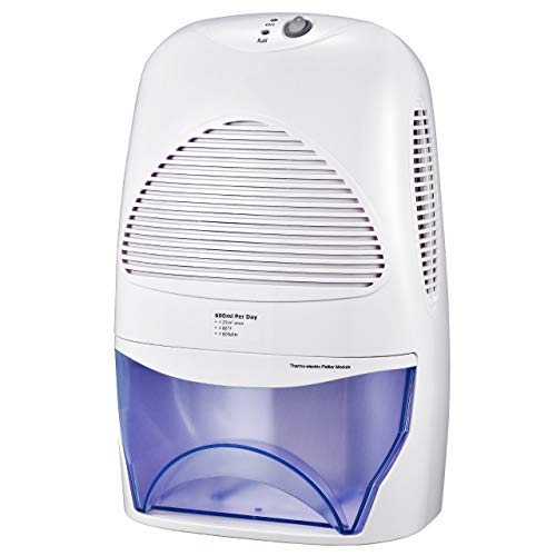 IKICH Dehumidifier 2L Portable Whisper-Quiet with Auto Shut Off, Low Energy and Compact Design, Remove Damp, Mould, Moisture in Office, Kitchen, Bathroom, Bedroom, Garage, Wardrobe