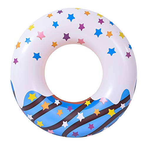 BWOLE Flotador inflable de la piscina, rosquillas flotadores de la piscina, anillos de natación, tubos inflables, balsa flotadores para niños, adultos, flotadores de la piscina para la playa