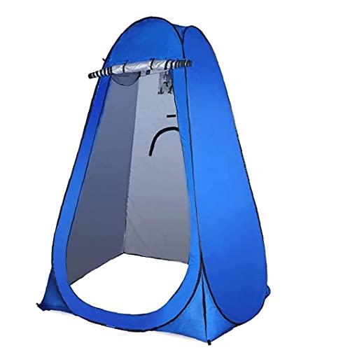 Eaarliyam Ducha Privacidad Tienda Portátil Automático Pop Up Camping Vestido Tienda con Ventana Azul