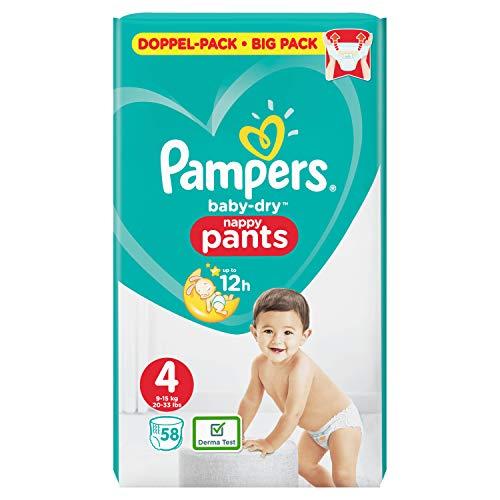 Pampers Baby-Dry Pants Größe4, 58Windeln