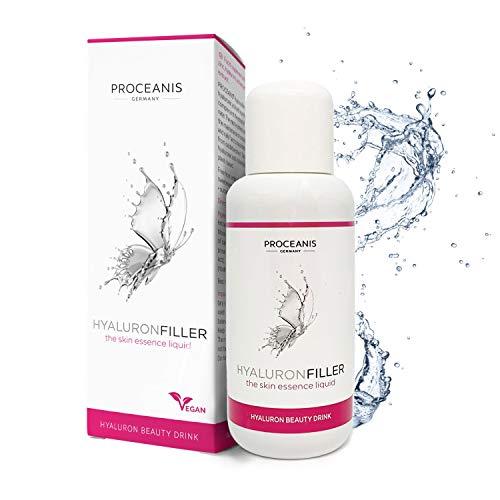 Premium Hyaluron Drink hochdosiert - Vegan - Für schöne Haut, Augen, Gesicht. Hyaluronsäure trinken für natürliche Schönheit