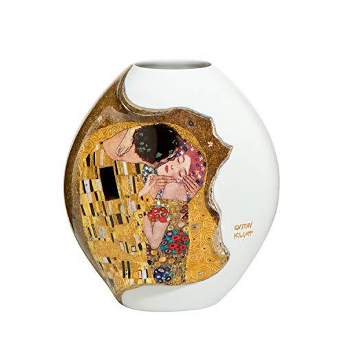Goebel - Der Kuss - Vase - Blumenvase - Porzellan - Gustav Klimt - 12 x 12 x 13,5 cm