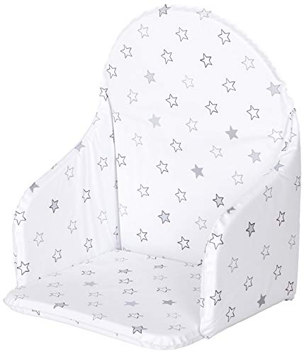 MamaLoes Sitzverkleinerer für Hochstuhl universal, mit Sternemotiv, weiß W-388557
