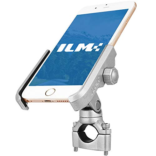 ILM Upgraded Bike Motorcycle Phone Mount Aluminum Bicycle Cell Phone Holder Accessories Fits...