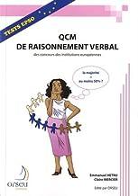 Livres QCM de raisonnement verbal des concours des institutions européennes PDF