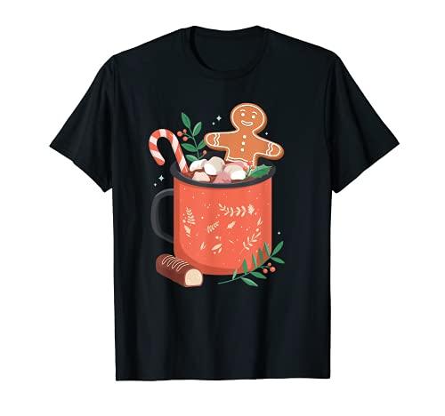 Taza de chocolate caliente para galletas de jengibre Camiseta