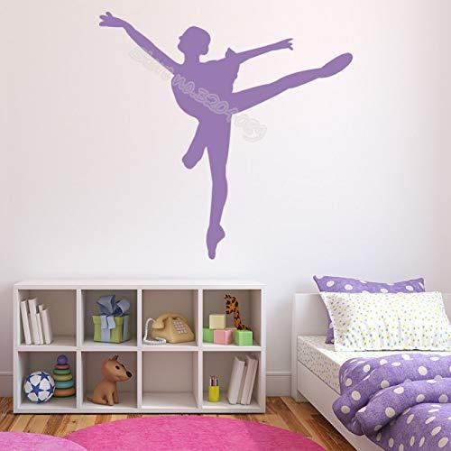 Ballet Dans Muursticker Tutu Ballerina Sticker Moderne Meisjes Slaapzaal Behang Dansstudio Art Home D67x67cm