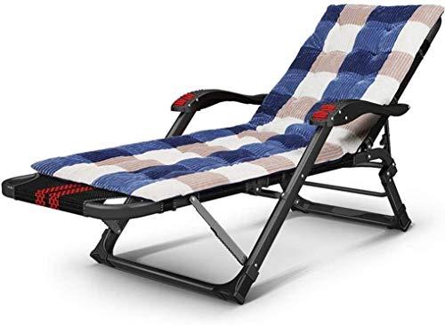 Aoyo Sillas de camping de jardín, tumbonas plegable, tumbona plegable, silla de oficina, pijamas de playa portátil con respaldo ajustable