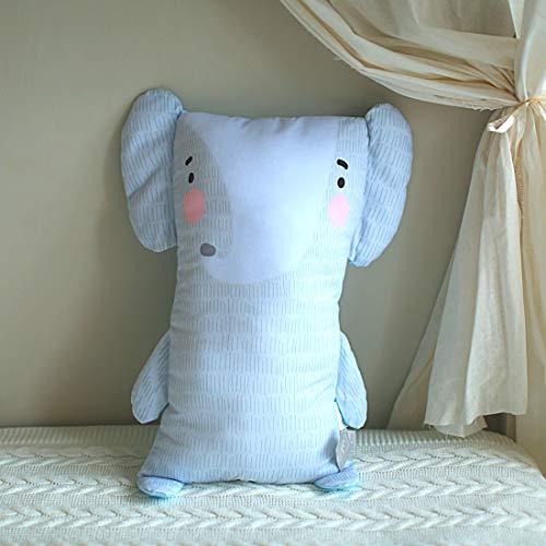 Kids Throw Pillow, Elephant Pillow for Baby, Toddler, Boys, Girls | 3D Cute Pillow Buddy | 24.4 inch Cotton Cuddle Hugging Body Pillow | Nursery Decorative Pillows Kids, Elephant Throw Pillows