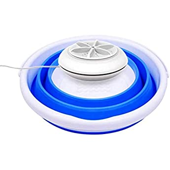 Foto di NIVNI Lavatrice, Mini Lavatrice con Vasca Pieghevole turbina a ultrasuoni Rotante Personale Portatile Lavatrice per Appartamenti da Campeggio dormitori Viaggio d'Affari